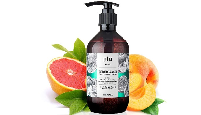 PLU scrub wash (Rasberry mint, Grapefruit peach, Lime green grape)