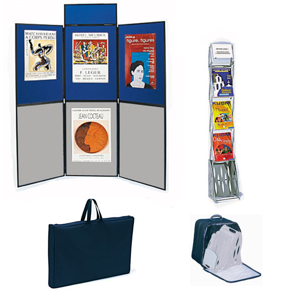 Utilisation pour votre communication et vos expositions. Affichage double-faceComposé du stand de 6 ...