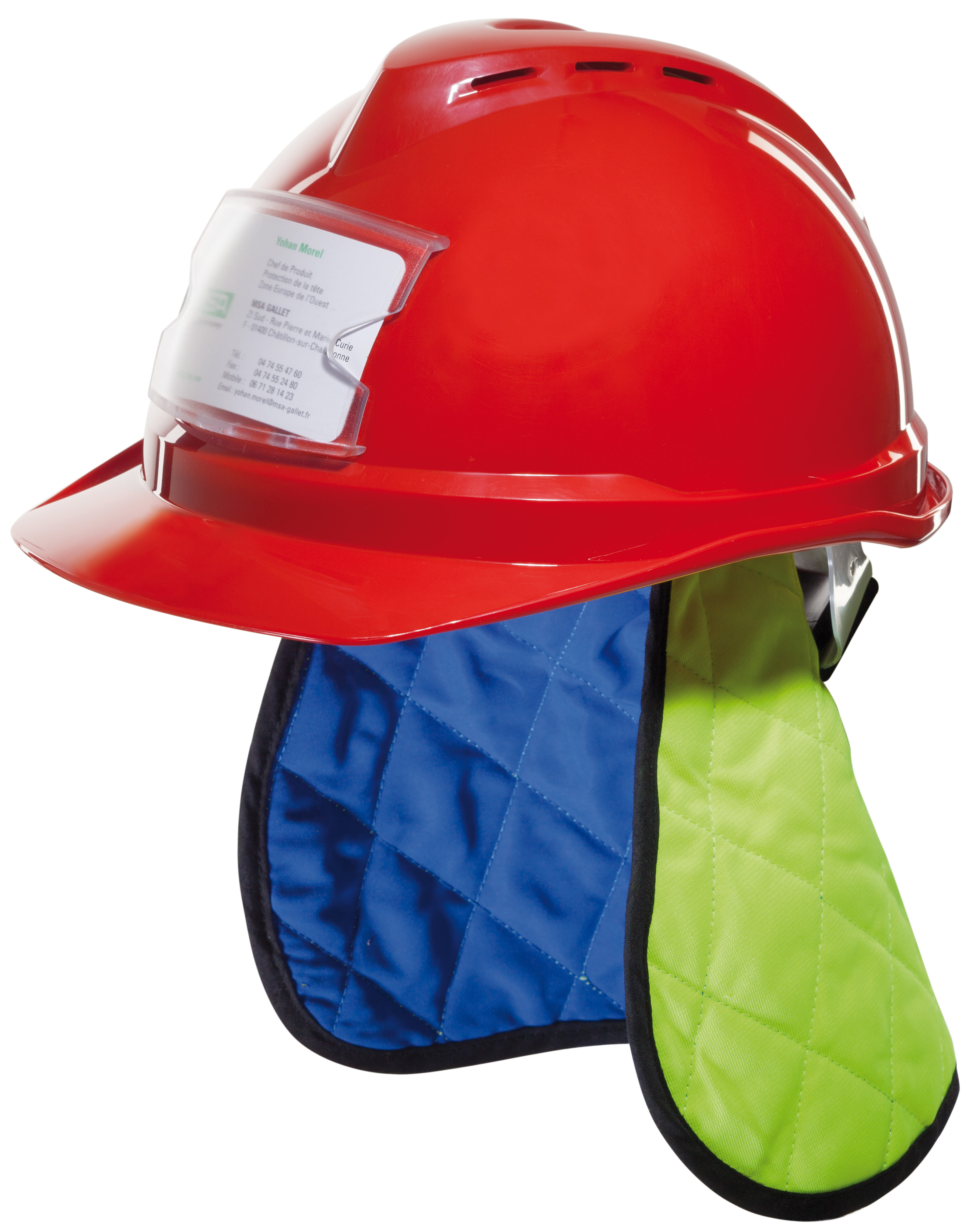 MSA offre deux accessoires de protection contre la chaleur à intégrer dans les casques de chantier V...