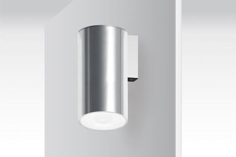 LENS ADOSADO PARED AEX. Luminaria de emergencia autónoma con tecnología LED, con cuerpo externo cilí...
