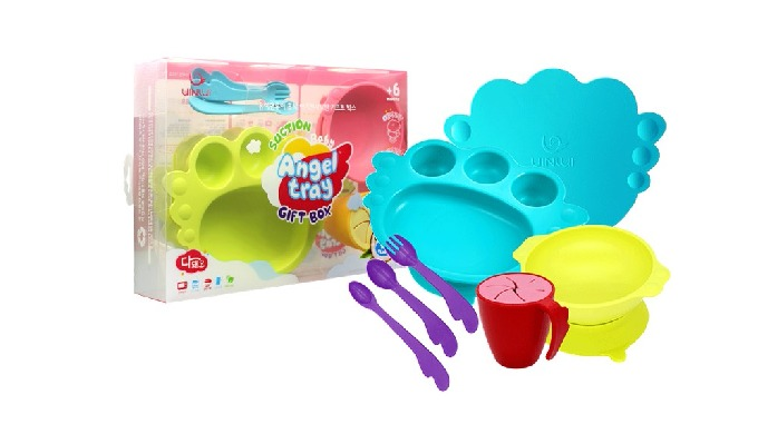Suction baby angeltray giftbox_baby tableware