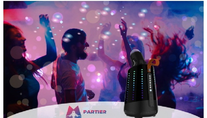 PARTIER PARTY-1000_USB module replaceable moving light Bluetooth (BT) speaker