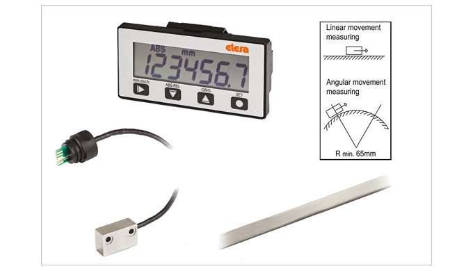 New Elesa MPI-R10 Magnetic measuring system with seven-digit display, for linear or angular measurement