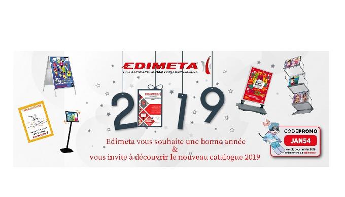 Toute l'équipe EDIMETA vous présente ses meilleurs vœux pour cette nouvelle année 2019