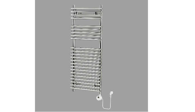 This easy to install quality heated towel rail will be the focal point of your bathroom, bringing a ...