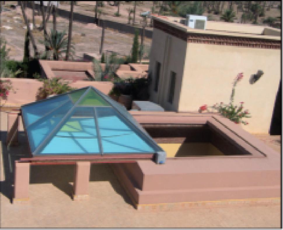 Ouverture et fenêtre sur toit