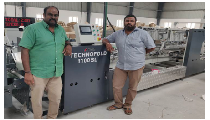Technofold 1100SL installation in Sivakasi Moorthy India