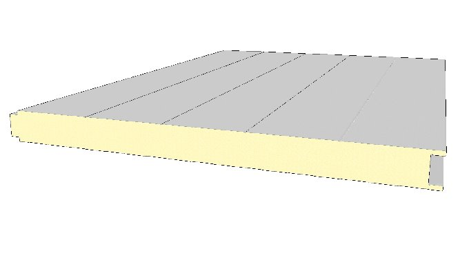 Paneles sándiwch con núcleo de PUR