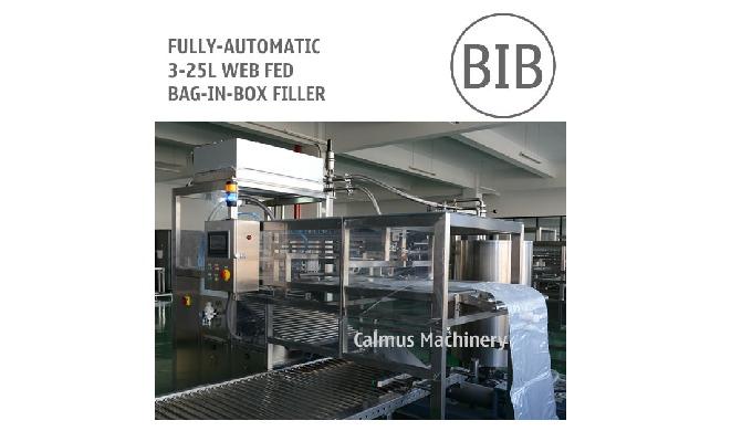 Fully-automatic BIB Filling Machine   WEB Fed Bag-in-Box Filler This Fully-automatic BIB Filling Mac...