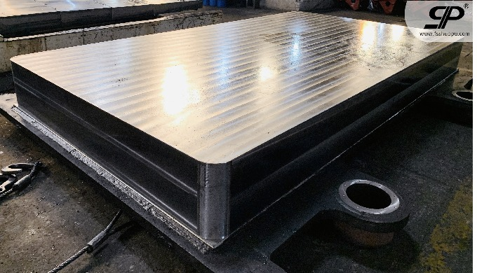 metal fabrication base for stone machinery