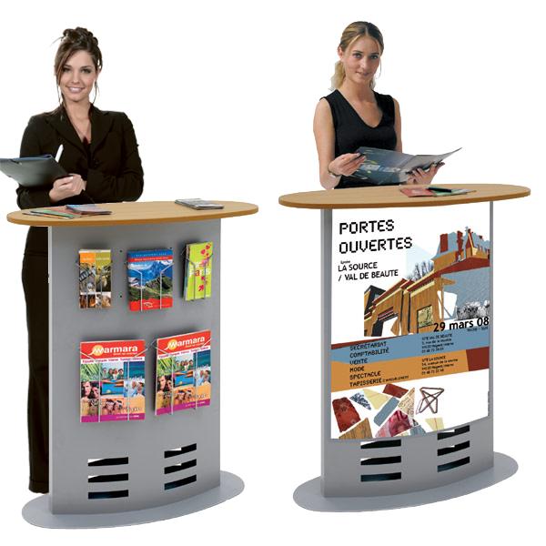 Utilisation pour l'aménagement d'un accueil, d'une réception, pour le stand d'une foire-exposition, ...