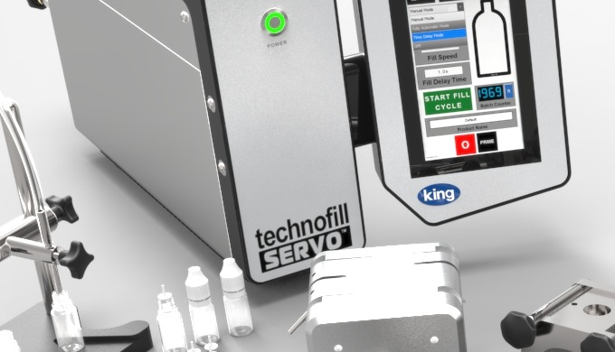 Our King Technofill Peristaltic and Gear Pump tabletop portable liquid filling machines with a large...