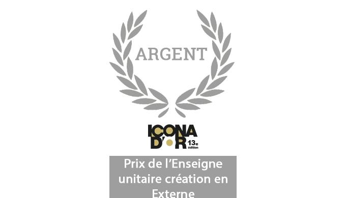 Actif Signal remporte 1 nouveau trophée Icona d'Or - Prix de l'Enseigne unitaire, création en externe