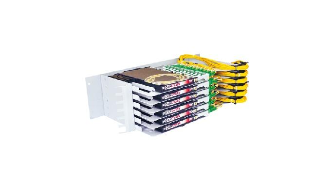 Fiber Optical Distribution Module (fiber high density module) of Canovate (CAN-TROY-700), provides u...