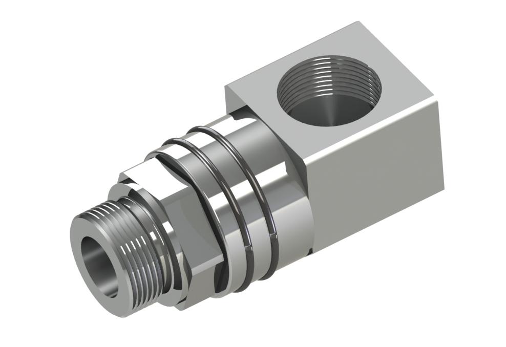 Exécution compacte avec éléments d'écoulement filetés, diamètres nominaux G1/4