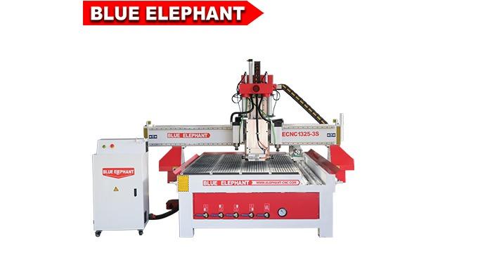 Elefante azul 1325 4 Eixo três do eixo de madeira 3d escultura máquina do router para móveis