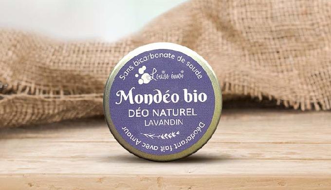 TOUTE PEAU Fraîcheur et sécurité avec le déodorant naturel Mondéo bio Lavandin. Formulé sans bicarbo...