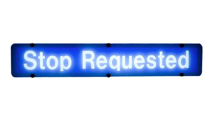 Transign's Stop Requested signs are being used by a growing number of large and medium size transit ...
