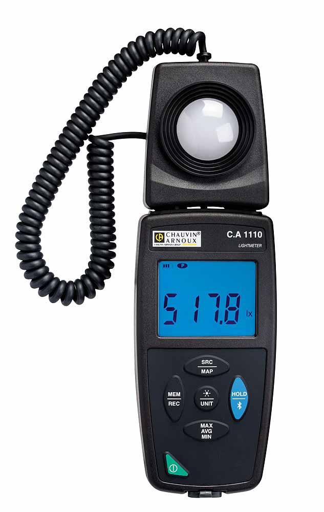 Le luxmètre C.A 1110 mesure les éclairements de toutes les sources lumineuses (LED, Fluo. etc.) jusq...
