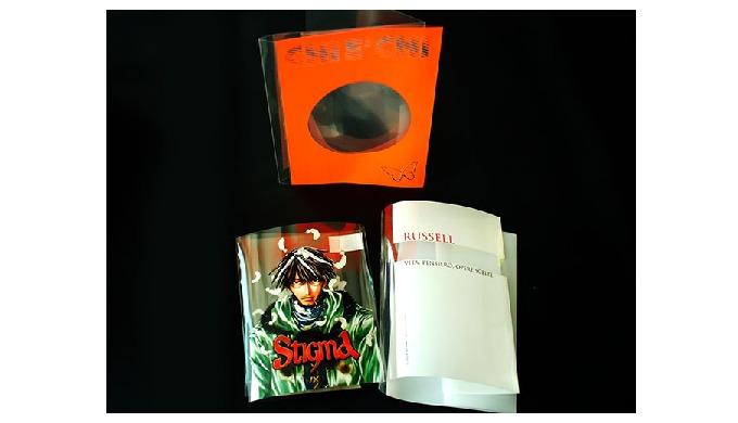Sovraccoperte per Libri Produciamo Sovraccoperte per libri in PVC (acetato) e PET, neutre o personal...
