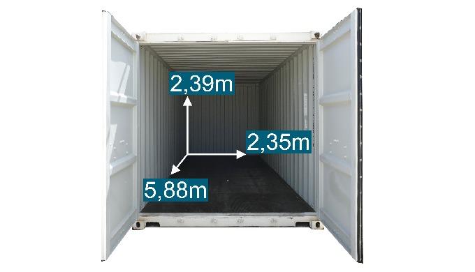 le conteneur maritime entier 120 euros TTC/mois
