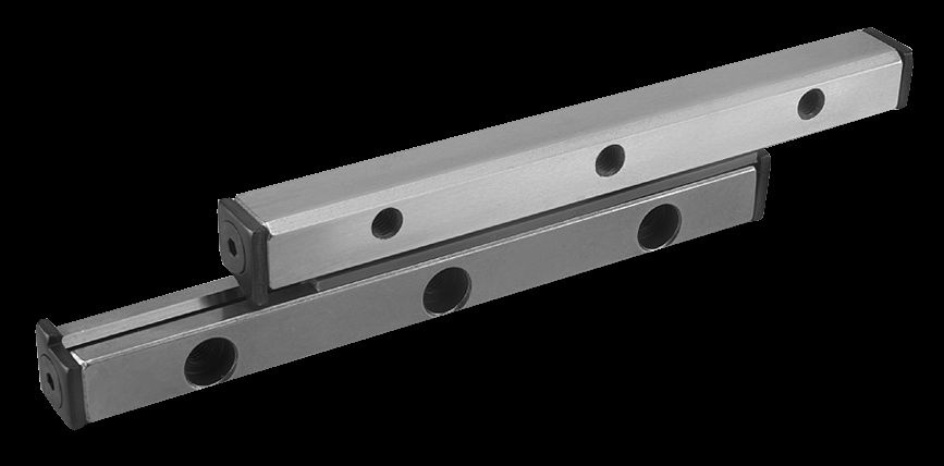Material: Guide rail tool steel 1.2842. End pieces 1.0531. Version: Guide rails hardened (60-62 HRC)...