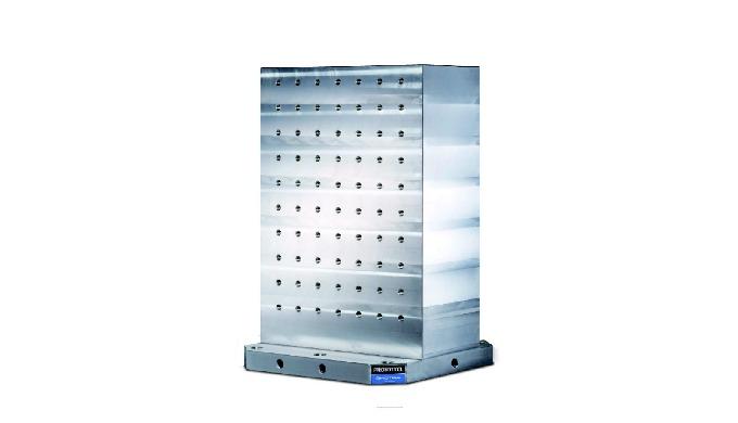 Columna HDH · Normalizadas · Muy adecuado para centros de mecanizado. · Amarre de pieza mediante can...
