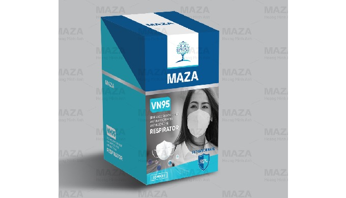 MAZA Respirator Protective Mask 5 Plys US NIOSH Standard (20 pcs/box)