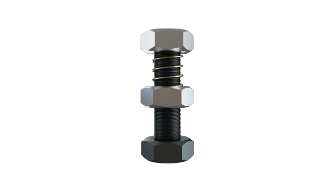 [SPRINGLOCK] Strong nut using the tension and direction