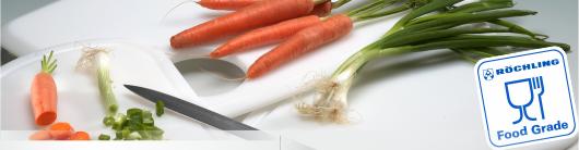 Plasty určené pro přímý styk s potravinami Röchling nabízí Široké spektrum standardních plastů až po...