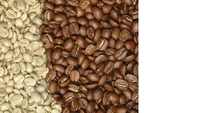 Coffee beans and roasted coffe