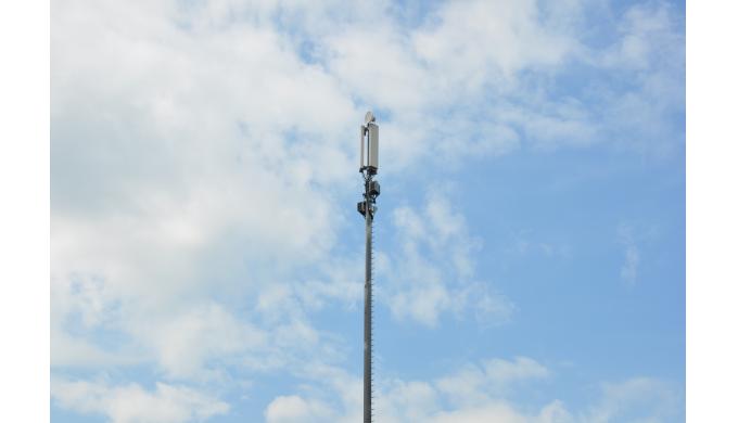 Som alternativ til gittermasten leveres rørmaster i standardhøjder fra 21 - 42 meter, og kan anvende...