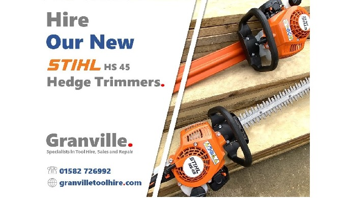 """We're excited to add these brand-new Stihl HS 45 24"""" Hedge Trimmers to our gardening and landscaping..."""