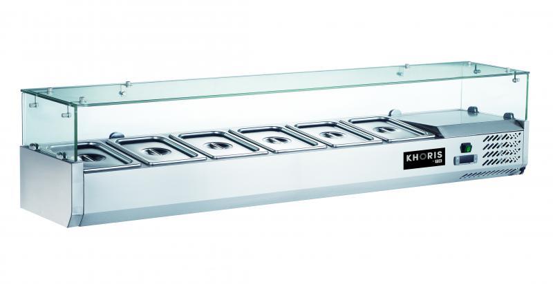 Vitrină frigorifică ingrediente | KH-VRX1200/380