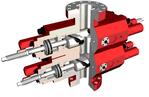 U-Shaped Ram BOP is designed and manufactured according to API Spec 16A standard Drilling and produc...
