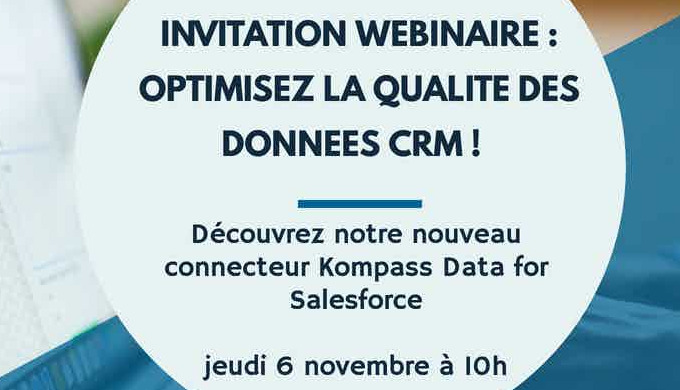 Invitation webinar : découvrez notre connecteur Kompass data for Salesforce