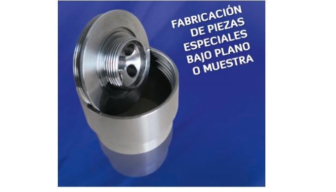 Piezas especiales mecanizadas en materiales diversos, para hidráulica y neumática.