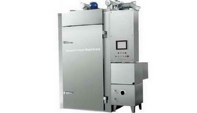 Material:SUS304 Stainless steel Heating Form: Steam heating Doors: Two doors, one for fresh sausage/...
