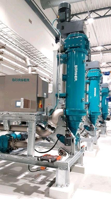 Bioselect BS de Börger BS est une séparation efficace. Séparateurs disposés verticalement dont la si...