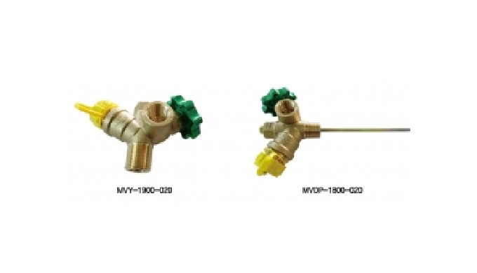 A valve that has a multi-functional function of the homogeneous pressure valve and the angle valve f...