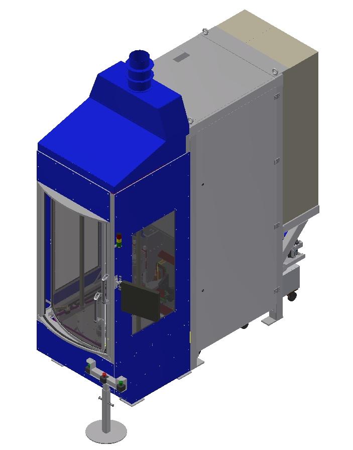 Vertikální vysokofrekvenční kalící zařízení 25 až 100 KW