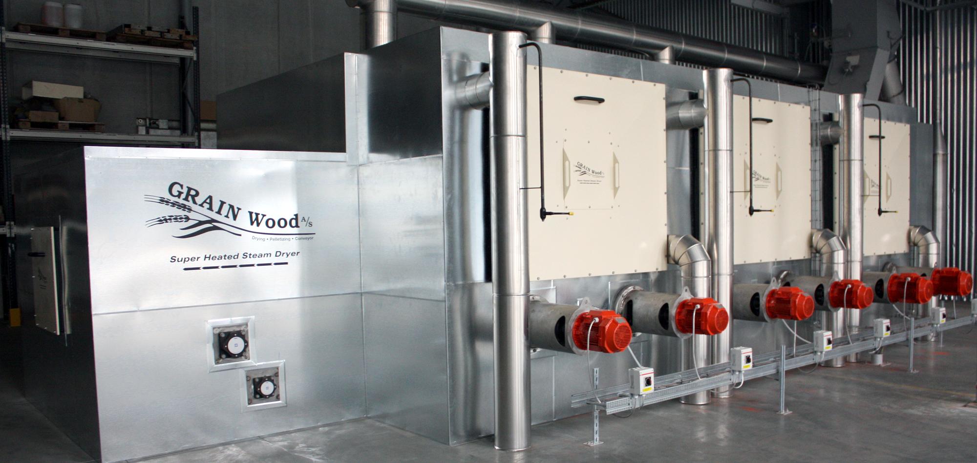 Tørringsanlæg GRAINAS Superheated Steam Dryer GRAINAS har udviklet og producerer et banebrydende tør...