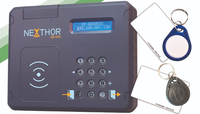 NEXTHOR-L, metodo de fichar sin contacto, mediante tarjeta o TAG