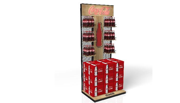 Stand de bebidas de Coca Cola