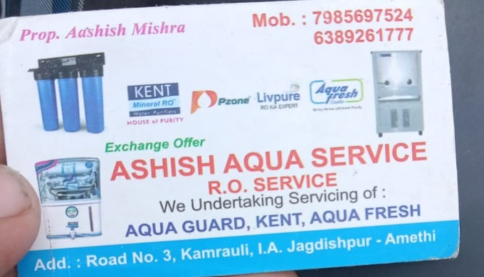 Ashish Aqua Service is a leading service provider of a wide range of water purifiers such as UV Wate...