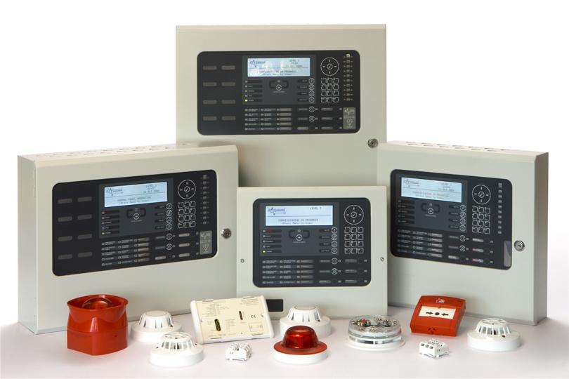 Lydgivere, røg detektorer, sirener, ABDL anlæg m.m.