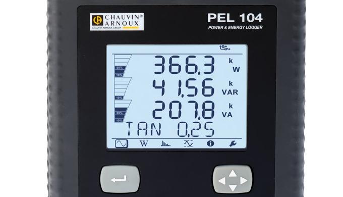 Le logger de puissance PEL104 mesure et enregistre toutes les données utiles pour un diagnostic des ...