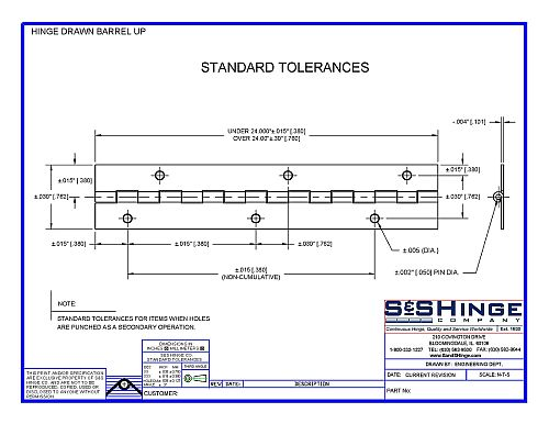 Additional Value-Added Services & Standard Tolerances