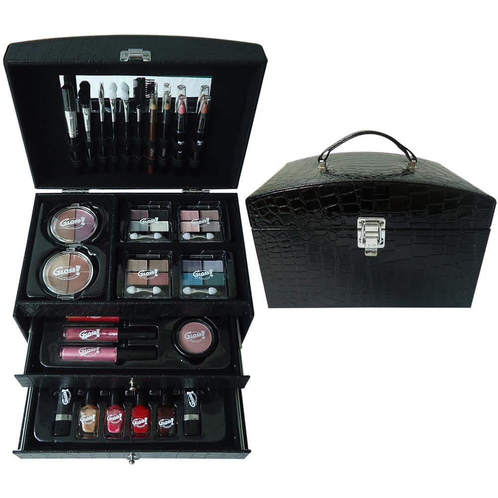 Mallette de Maquillage Stylish Essentials - Croco Noir