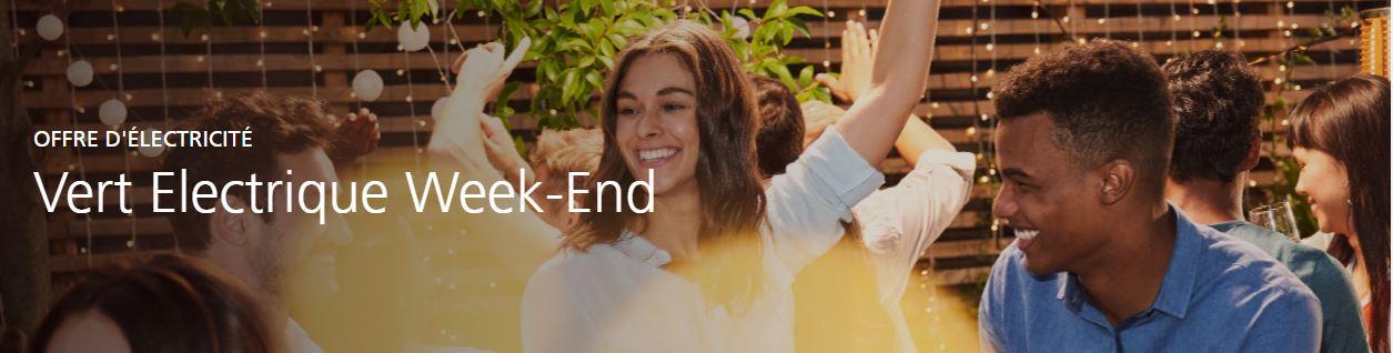 EDF vos présente l'offre d'électricité Vert Electrique Week-end pour vous permettre de réduire votre...
